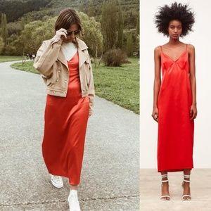 NWT Zara Size M Satin Lingerie Style Dress
